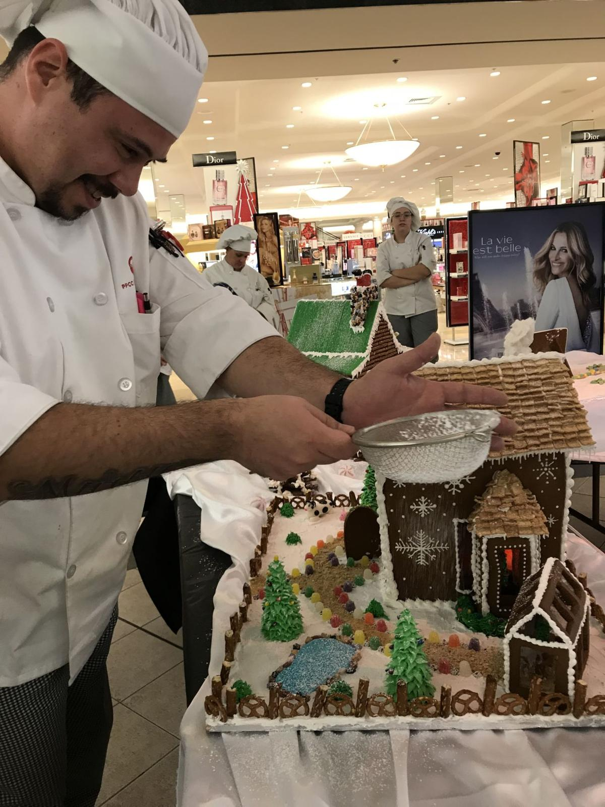 Eri Lugo and his gingerbread house