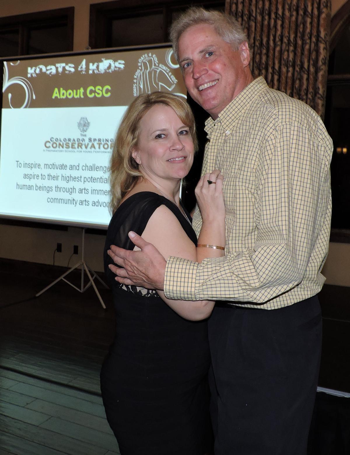 "Carol Raymond and Jay Brinkmeyer dance to the Conservatory's ""Its a Wonderful World"" at Koats 4 Kids. 102116 Photo by Linda Navarro"
