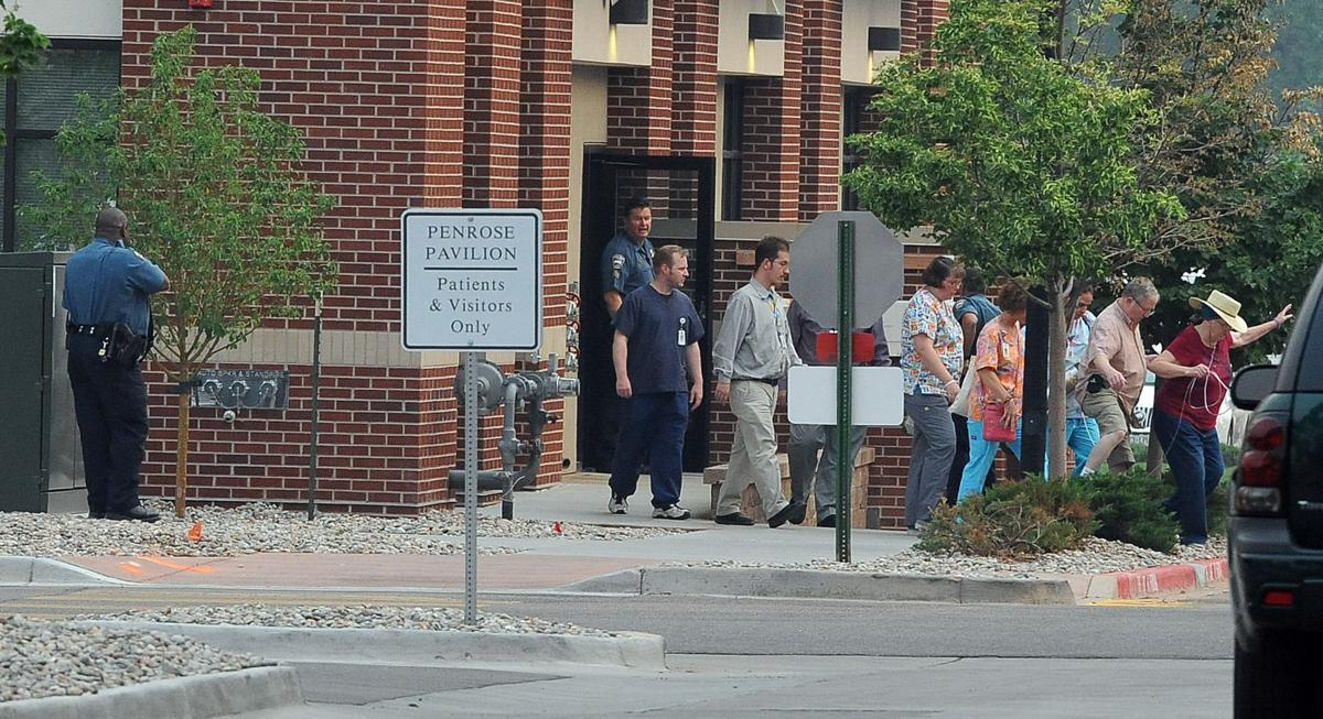 A shots fired call from the second floor of Penrose Pavilion east of Penrose Hospital shut down the building. SWAT was called out and the building was cleared on Thursday, June 20, 2013. (Jerilee Bennett/The Gazette)