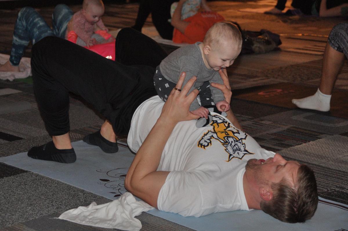 Ryan Johnson baby yoga