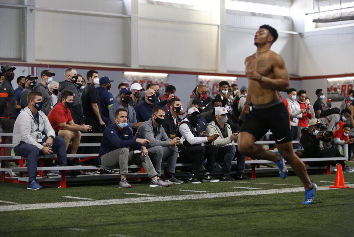 Ohio State University NFL Pro Day Football