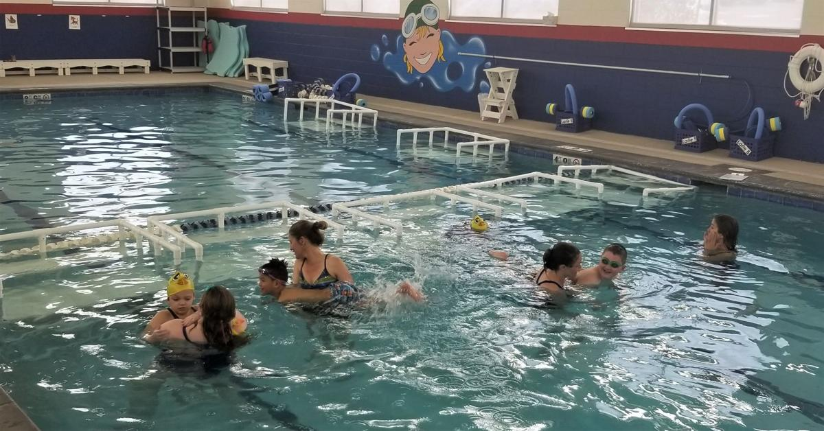 District 38 adapted swimming program meets at Safesplash