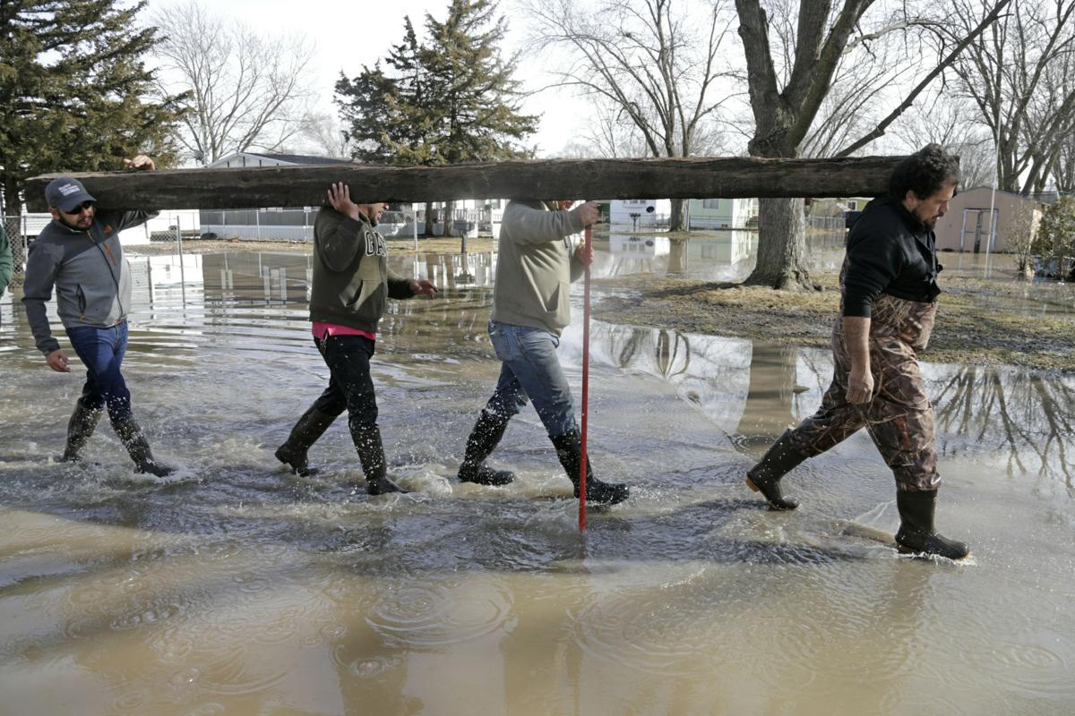 Winter Weather Flooding Isolated Town