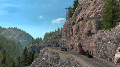 Screenshot of American Truck Simulator.