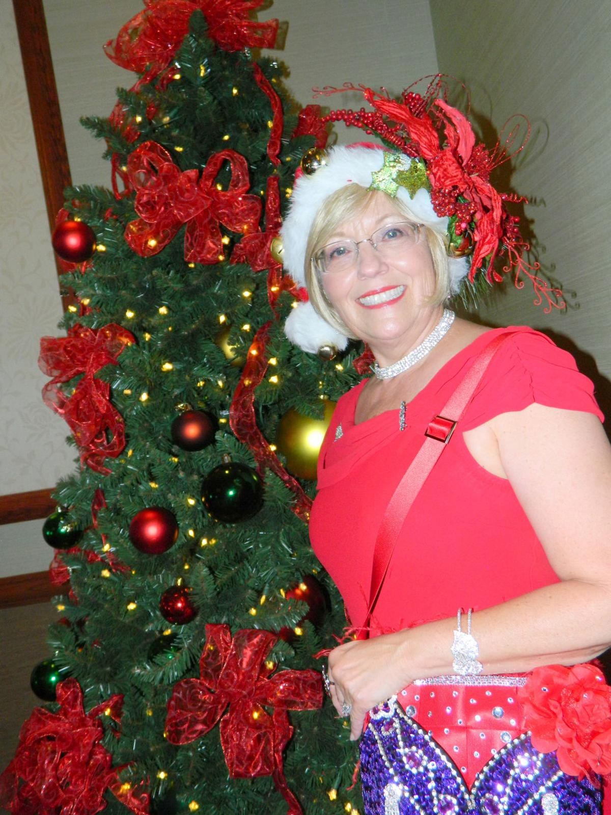 Hats Off To Christmas.Around Town Hats Off To The Red Hat Society Queens