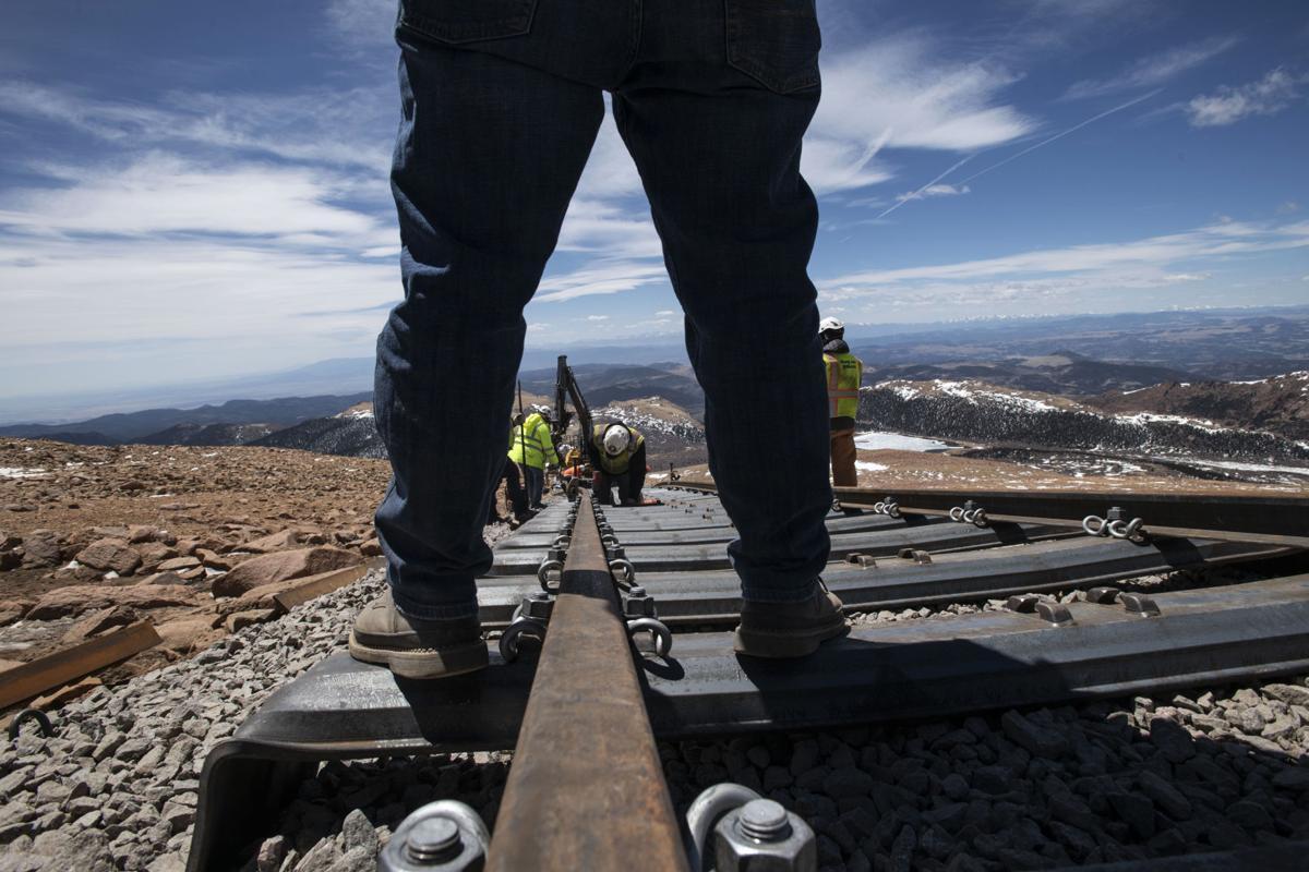 Pikes Peak Cog Railway's on track