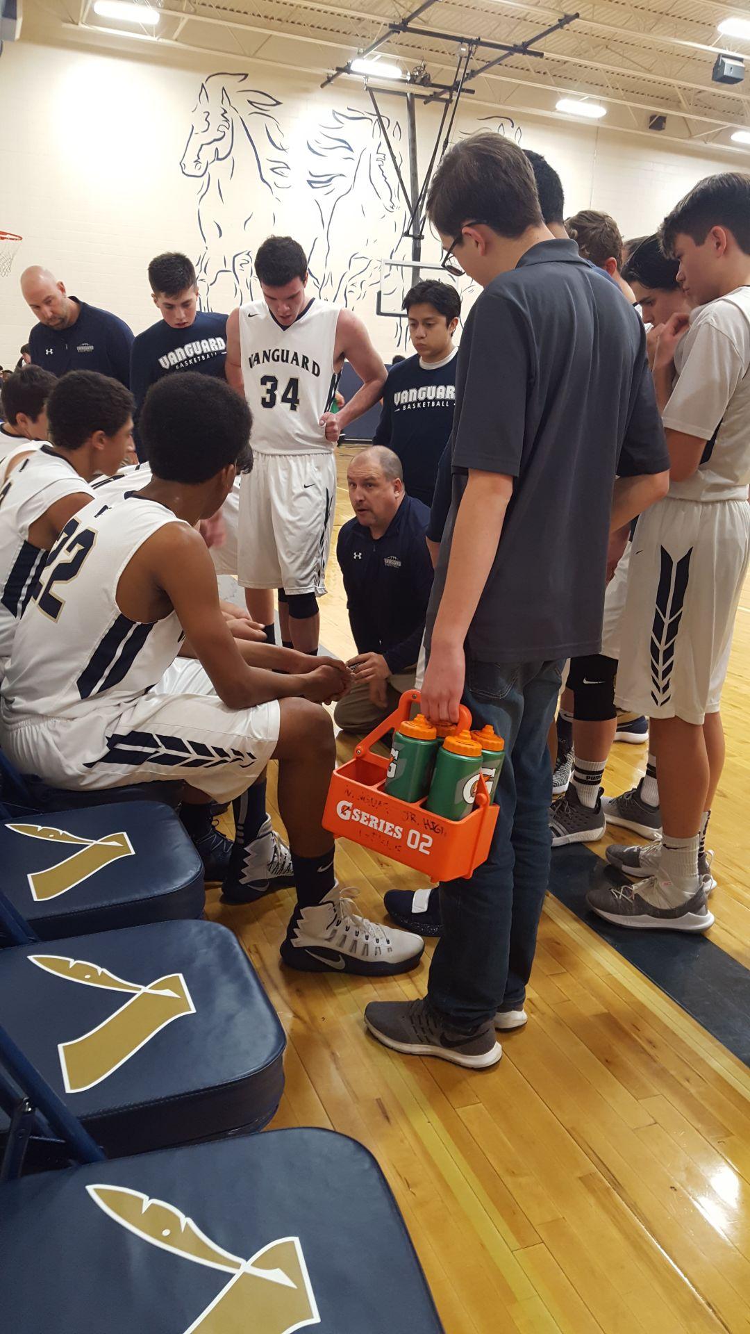 Vanguard coach Joe Wetters