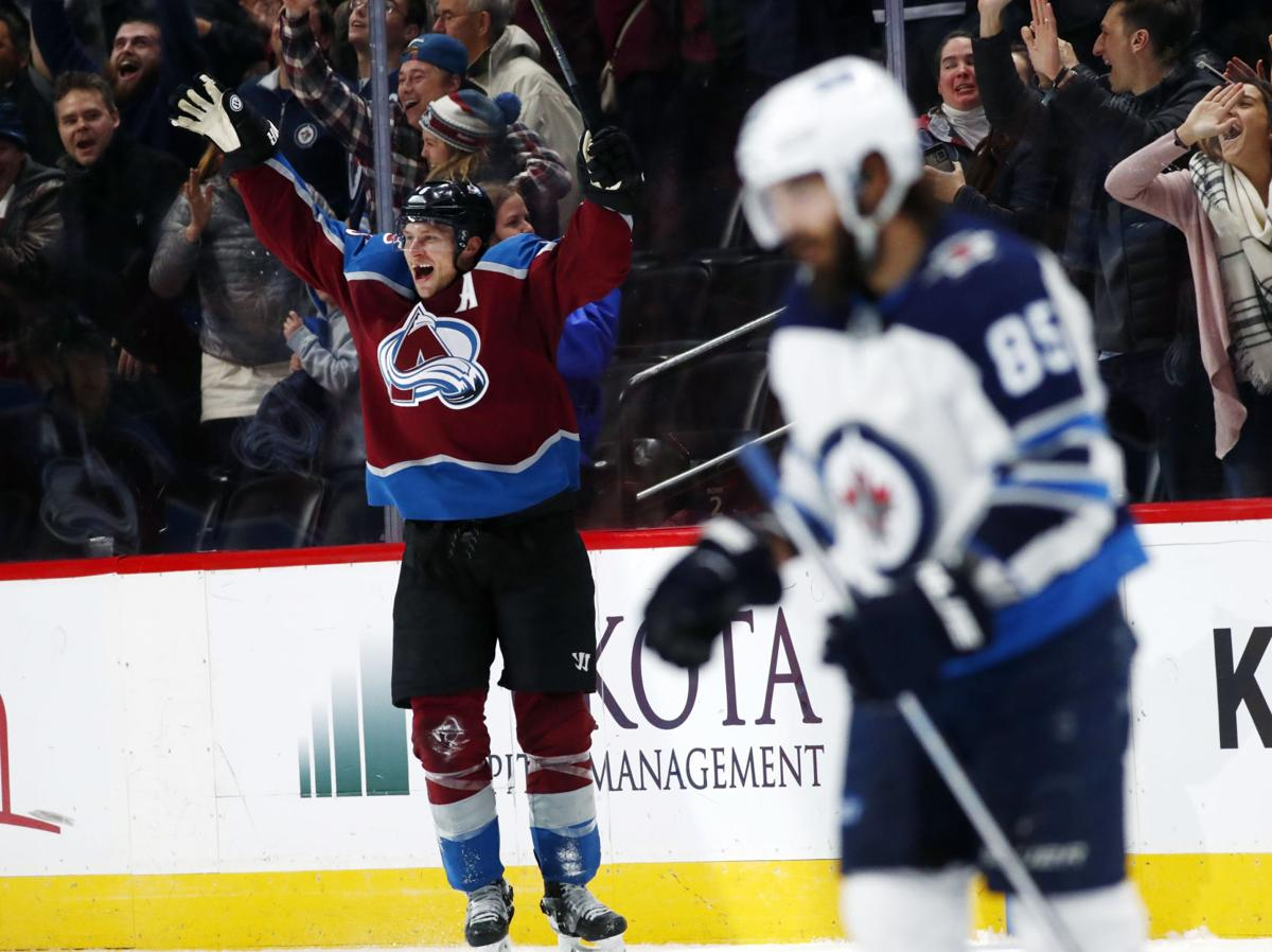 APTOPIX Jets Avalanche Hockey