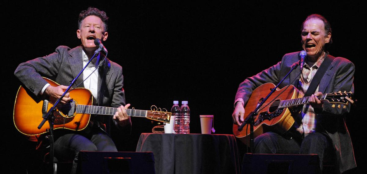 Lyle Lovett and John Hiatt sing together at the Pikes Peak Center on Wednesday, October 7, 2009. (The Gazette/Jerilee Bennett) (copy)
