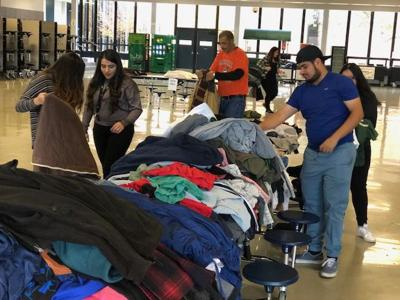 Mitchell High collects winter gear for fellow classmates