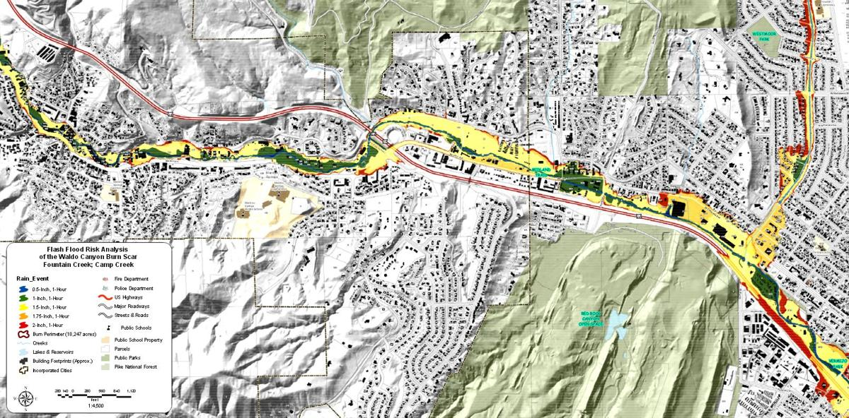 New Flash Flood Maps Available For Waldo Canyon Burn Area Colorado