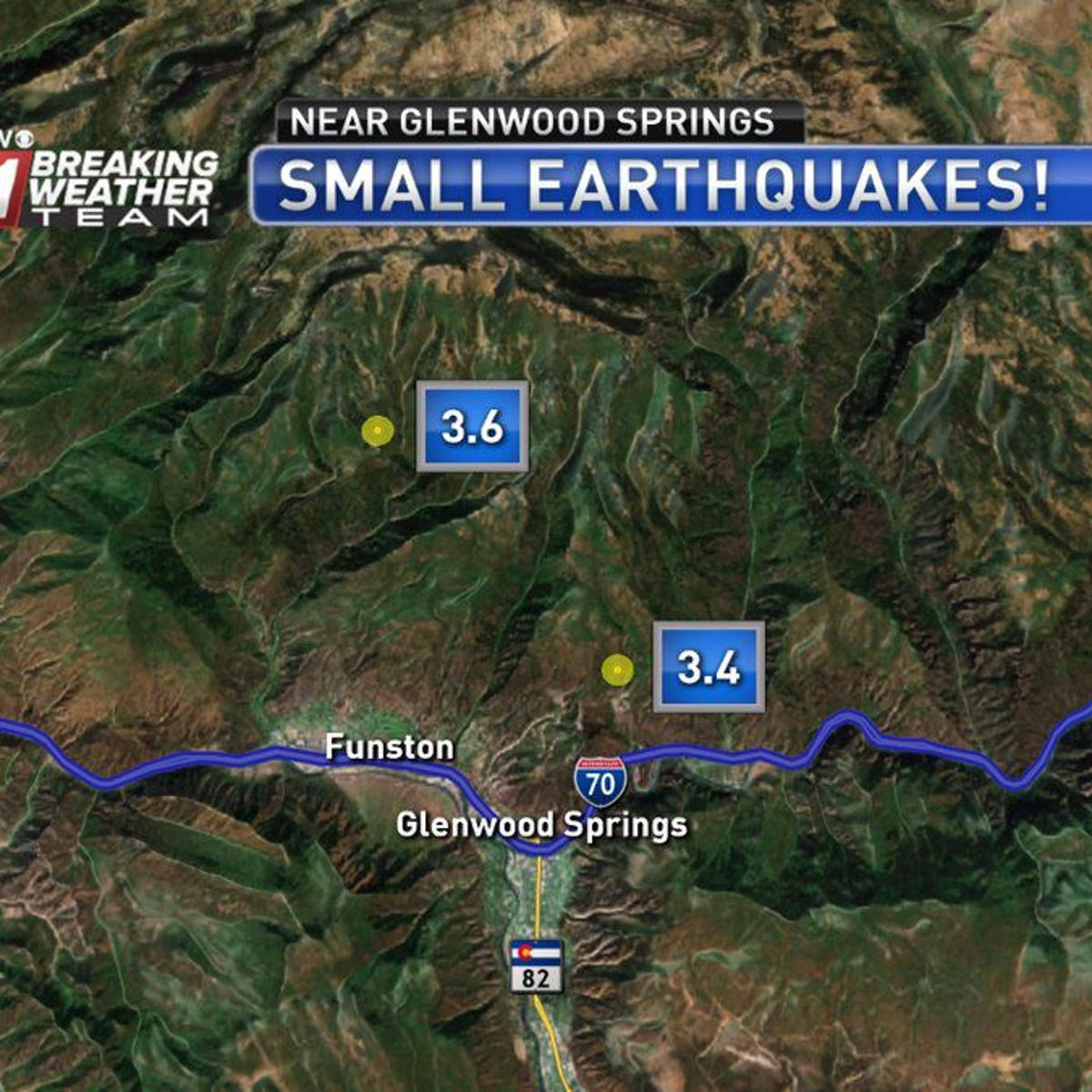 Two small earthquakes rattle area near Glenwood Springs ... on west vail map, pagosa map, manitou springs co map, montrose map, greenwood village map, denver map, eagle map, glenwood canyon map, colorado map, broomfield map, newport news map, las vegas map, arvada map, lochbuie map, aspen map, fairfield map, saguache map, steamboat area map, norman map,