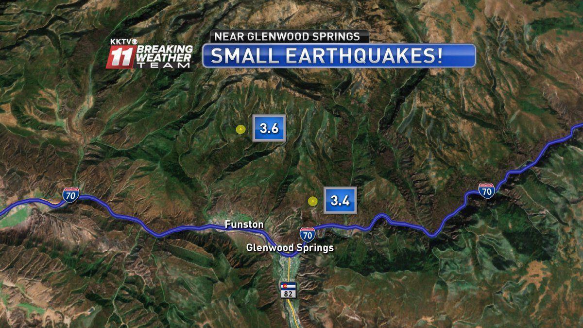 Two Small Earthquakes Rattle Area Near Glenwood Springs Colorado
