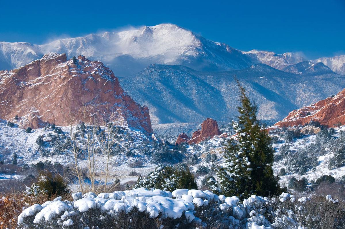 Pikes Peak in Winter