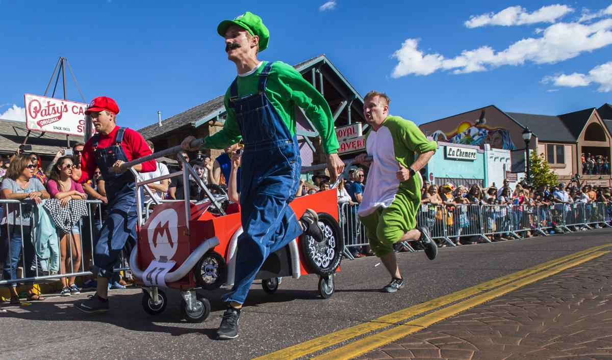 Highlights from the race Saturday, Oct. 29, 2016, during the 22nd annual Emma Crawford Coffin Race and Parade in Manitou Springs. (The Gazette, Christian Murdock)