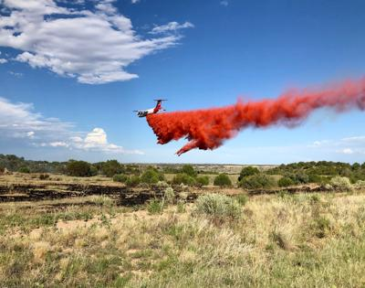 Air tanker drop on Fort Carson
