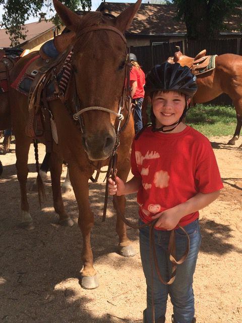 Maddie Shelton at horse camp