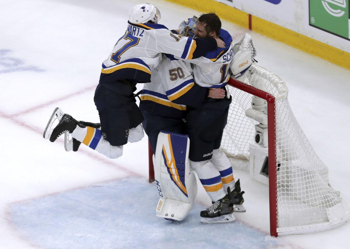 APTOPIX Stanley Cup Blues Bruins Hockey