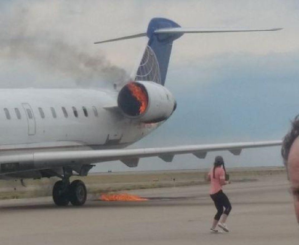 Tire fire may have sparked airplane engine fire in Denver