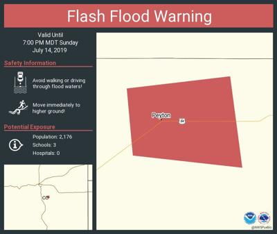 Flash Flood Warning in Peyton Area