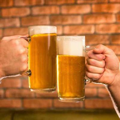 Beer stein toast