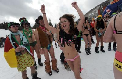 Spring skiing is all about bikinis, beer and wackiness