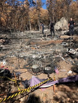 homeless camp Incline fire