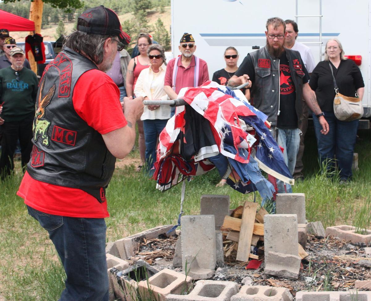 Vietnam Vets/Legacy Vets Motorcycle Club's Bravo Chapter holds flag retirement ceremony