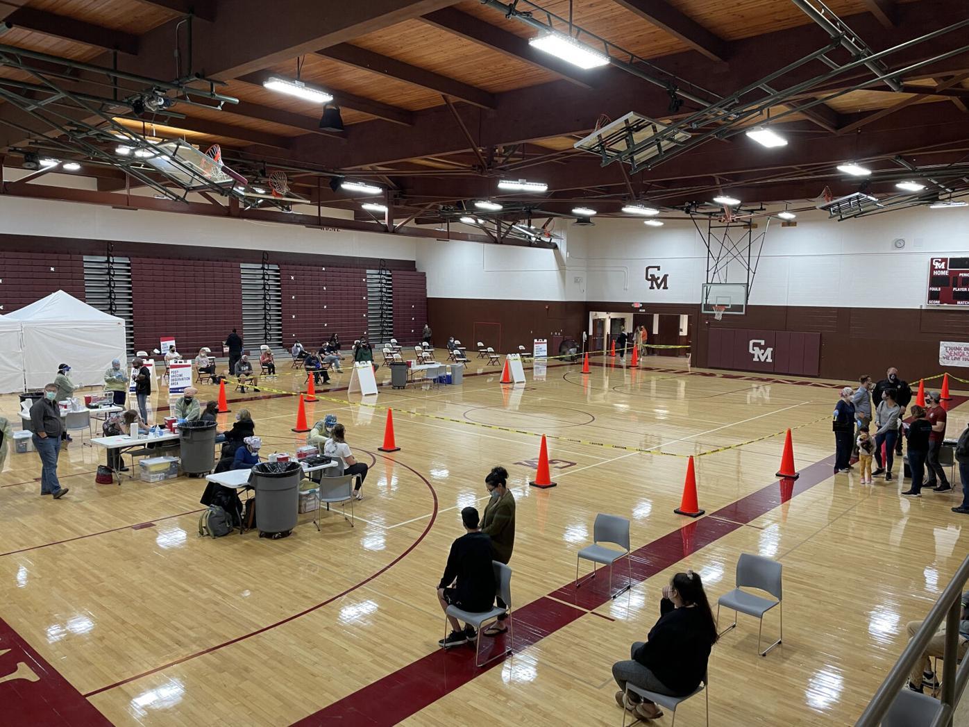 Vaccine clinic inside Cheyenne Mountain High School.jpg