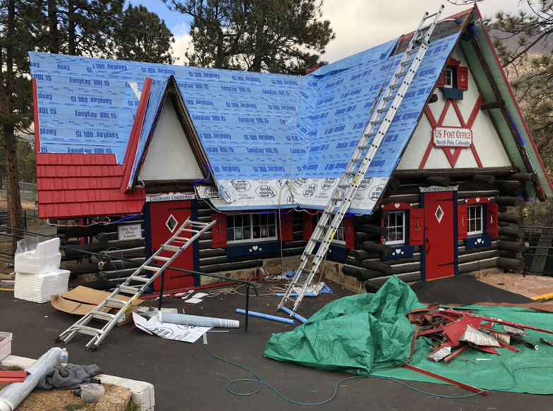 Santa's Workshop outfits more than 20 buildings with new aluminum shingles