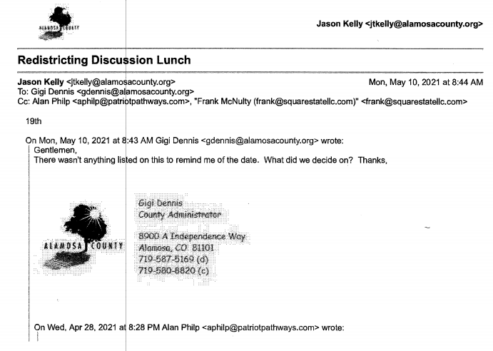 Redistricting Discussion Lunch email