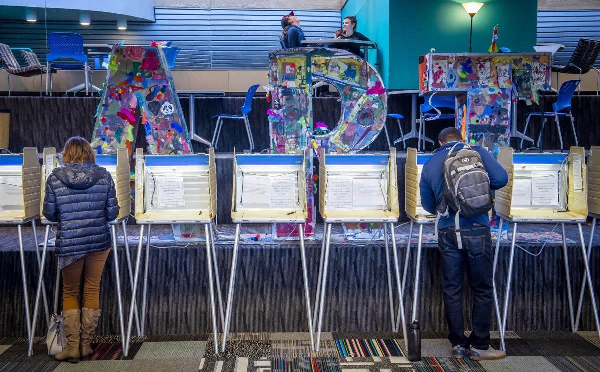 Election voting ballot