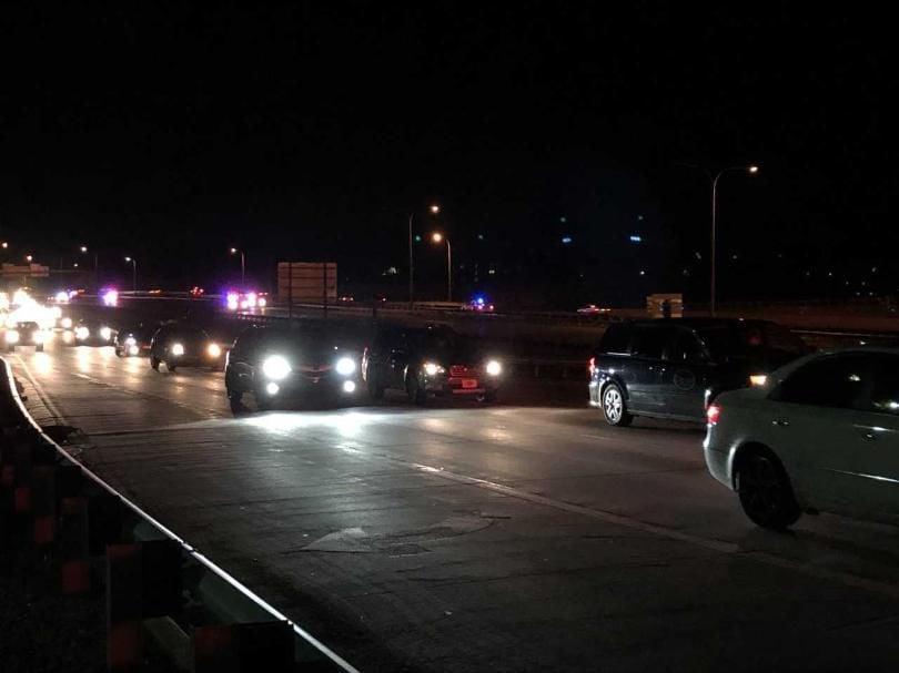 Crash involving police cruiser near Bijou exit, on I-25