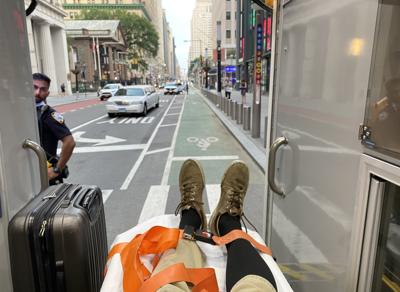 Ambulance view of NYC