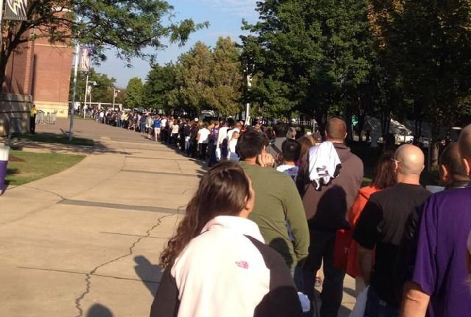 e3a6aa0adca Thousands turn in Ray Rice jerseys in Baltimore. Caption +. Lines were long  Friday as fans line up outside M&T Bank Stadium ...