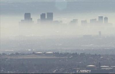 Denver skyline haze