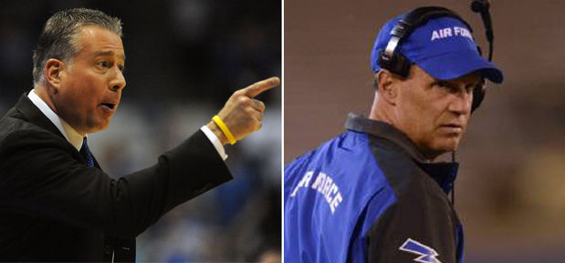 Air Force basketball coach Dave Pilipovich credits advice from football coach Troy Calhoun in snapping skid