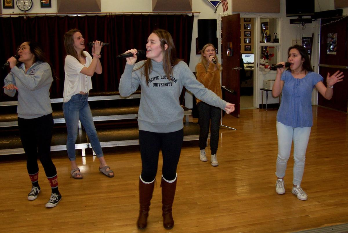 Cheyenne Mountain High's Crimson girls sing