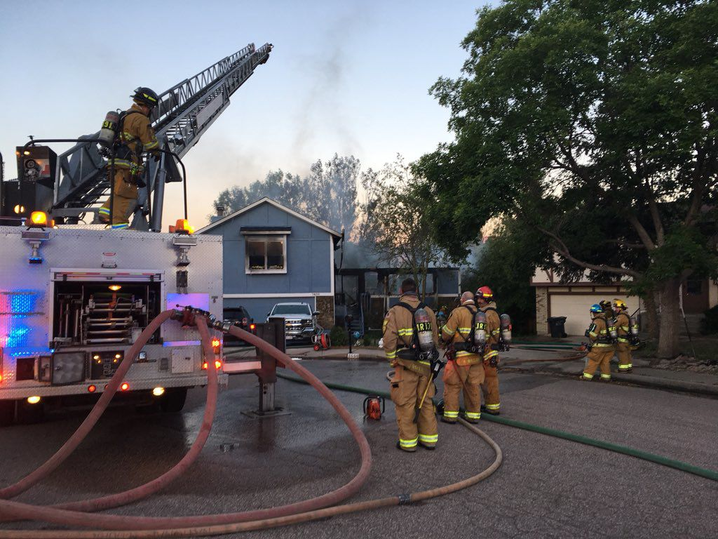 Couple escapes from upstairs window as fire guts Colorado