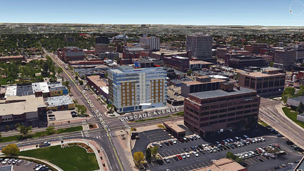 High rise hotel coming to downtown colorado springs - Hilton garden inn colorado springs ...