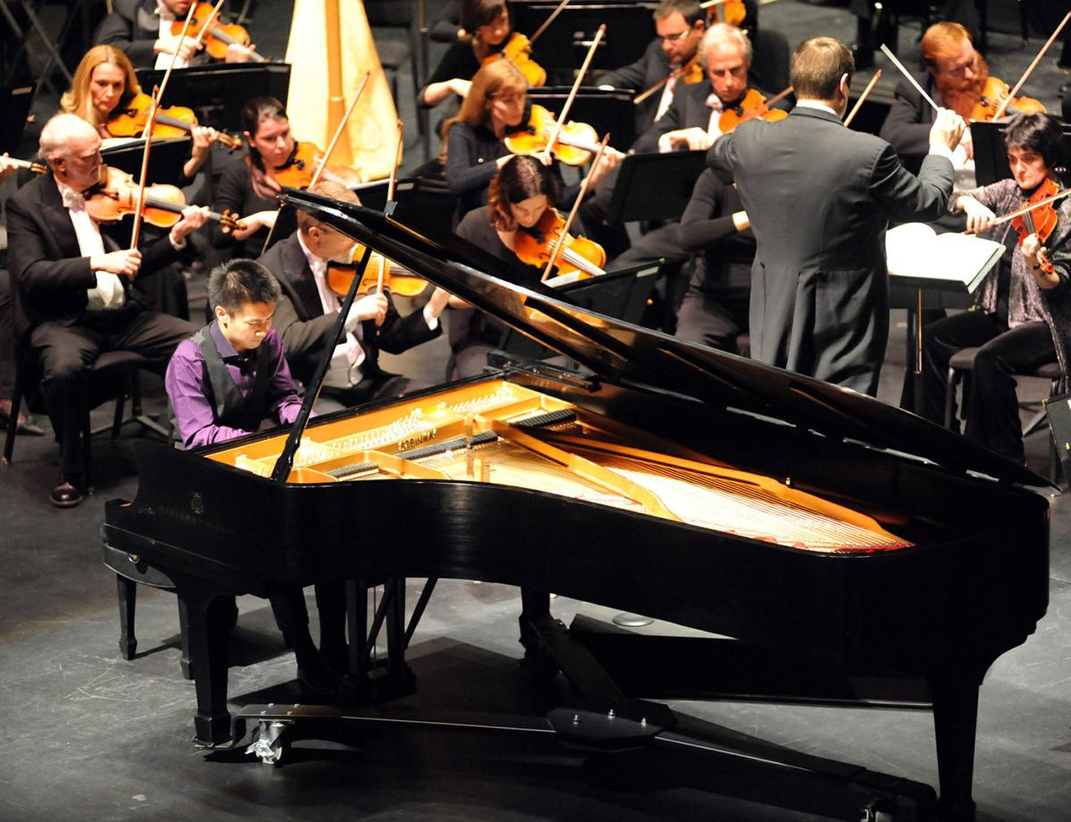 Colorado Springs Philharmonic with Conductor Josep Cabelle-Domenech and Special Guest Conrad Tao at the Pikes Peak Center Friday February 14, 2014. Photo by Jeff Kearney