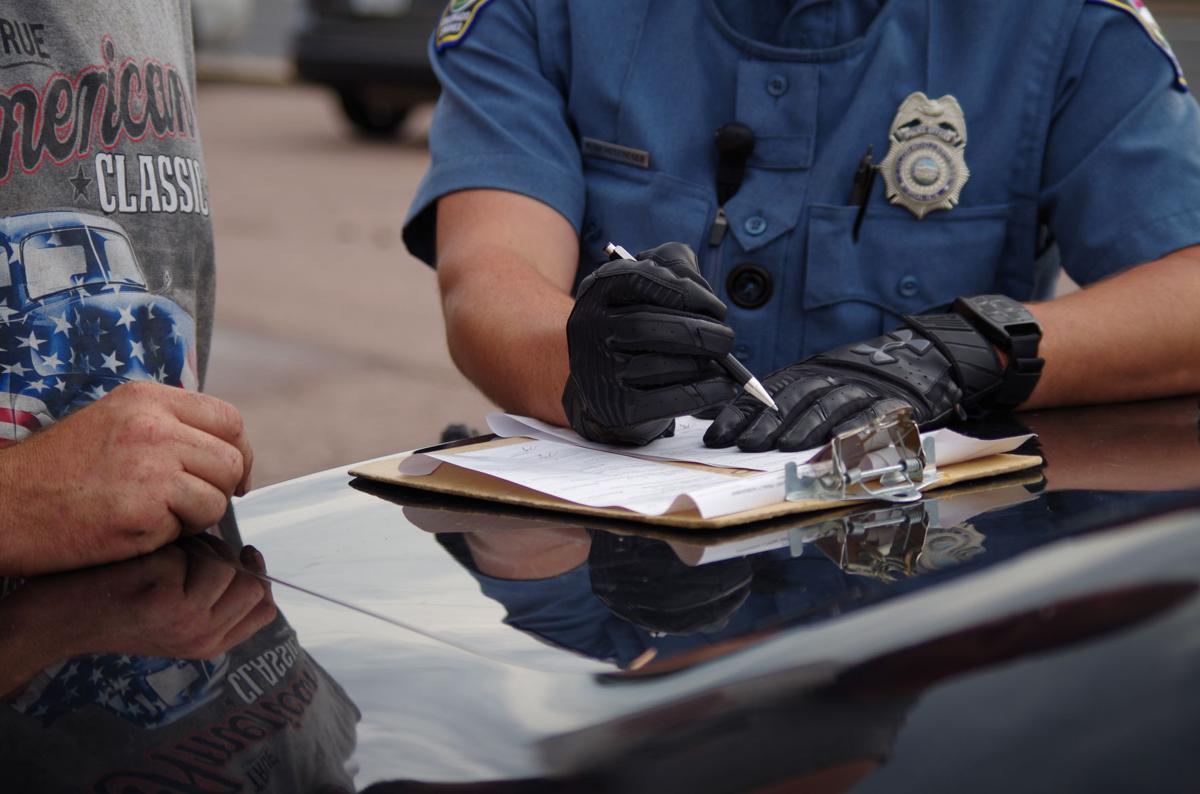 (WOODMEN) Colorado Springs police driving traffic ticket (copy)