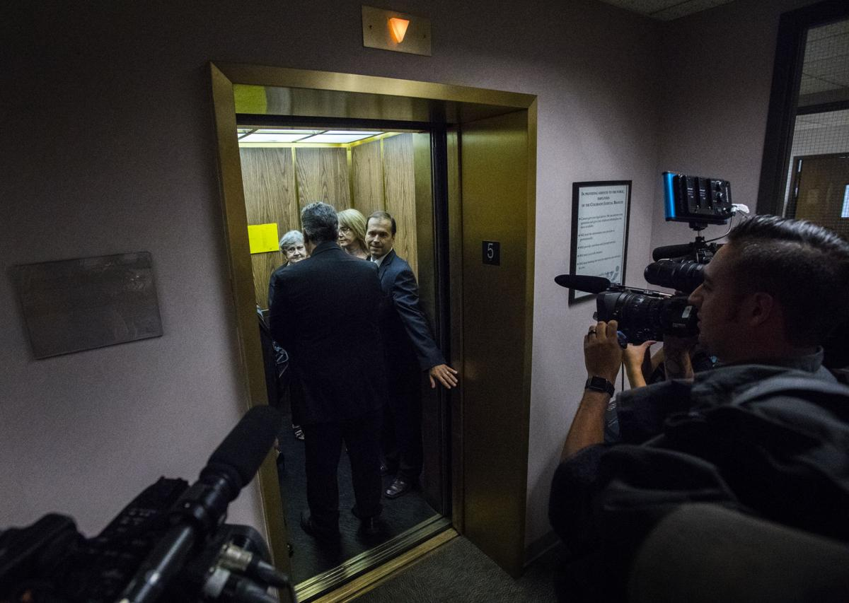 Former El Paso County Sheriff Terry Maketa leaves the courtroom after being acquitted on three of seven charges after a jury hangs on the remaining charges Tuesday, July 11, 2017, in the 4th Judicial District Court inside the Terry R. Harris Judicial Building in Colorado Springs, Colo. (The Gazette, Christian Murdock)