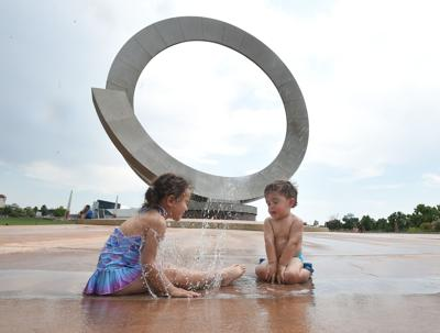 Kids cool off at the Julie Penrose Fountain on June 17 (copy) (copy)