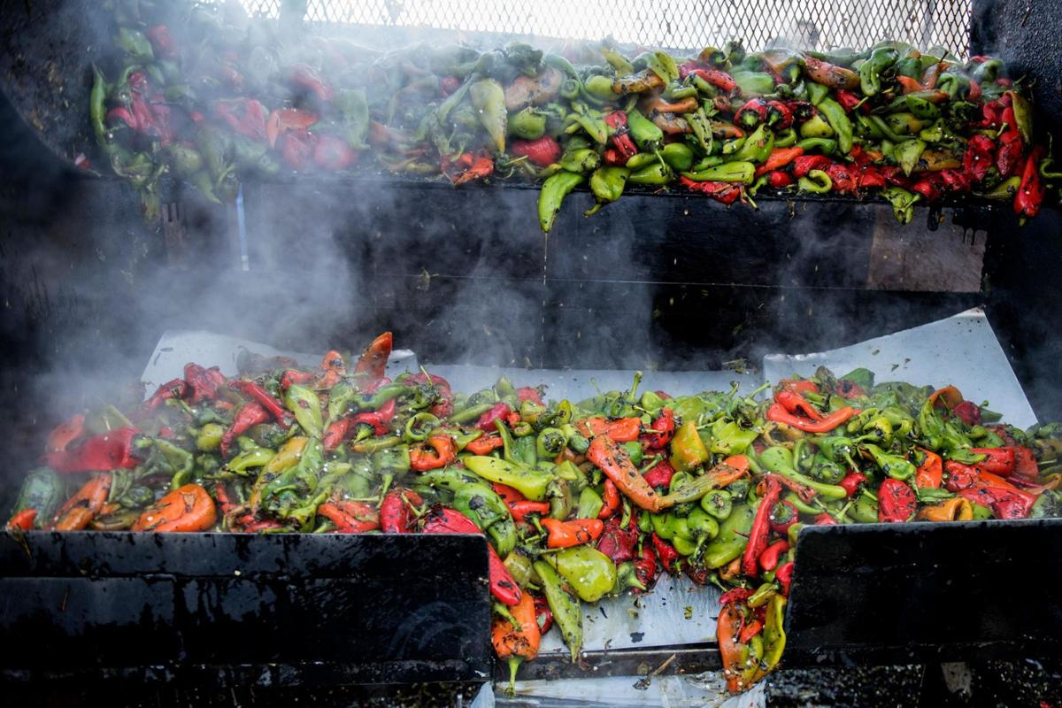 Praiseworthy crop of chilies available at Pueblo festival