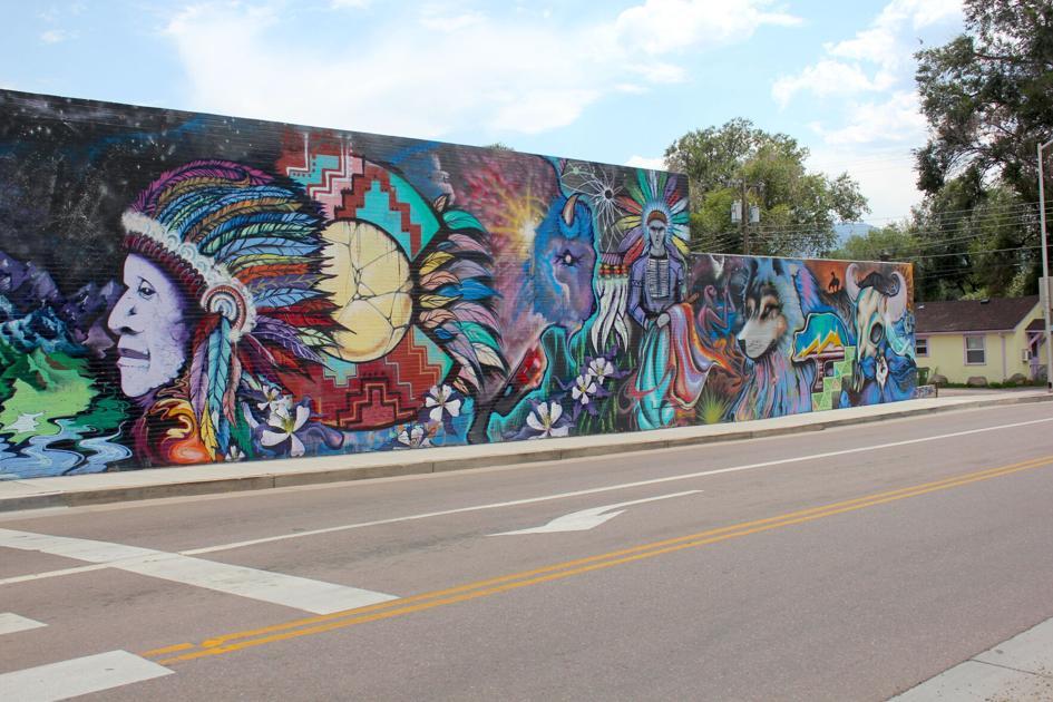 Westside mural revamped as Colorado Springs postcard with community characteristics