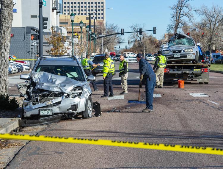Downtown crash site