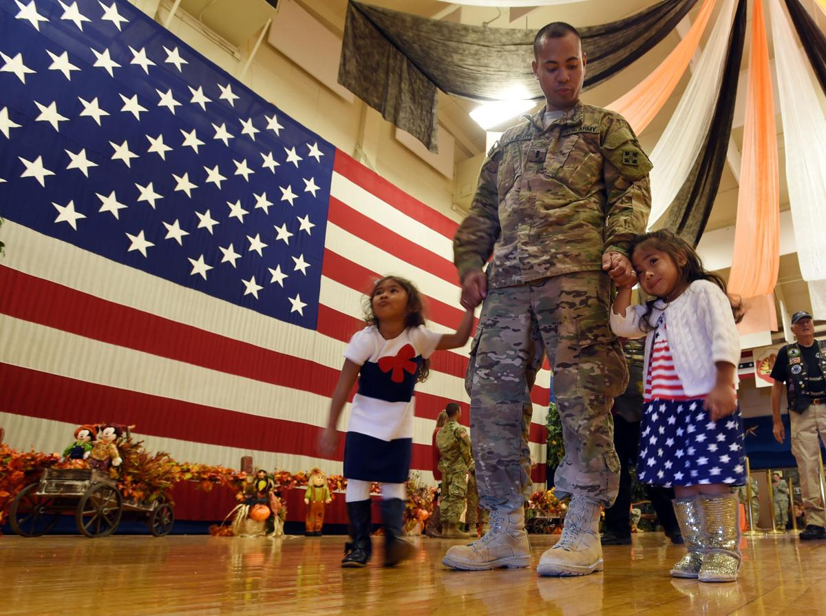 Approximately 55 Ft. Carson soldiers from the 3rd Armored Brigade Combat Team, 4th I.D., returned from Southwest Asia on Tuesday, October 6, 2015. The troops have been gone since February. (Jerilee Bennett/The Gazette)