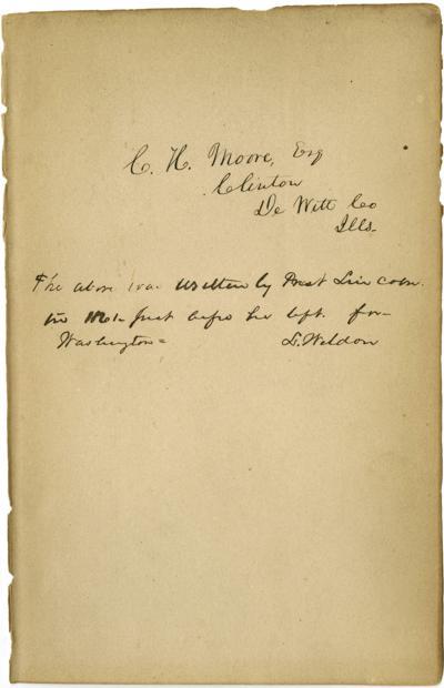 Lincoln Handwriting Race