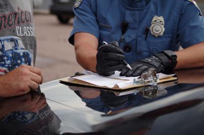 Colorado Springs police driving traffic ticket (copy)